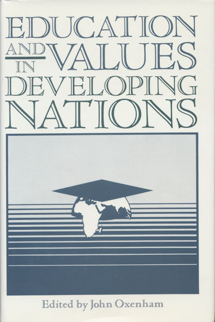 Education and Values in Developing Nations