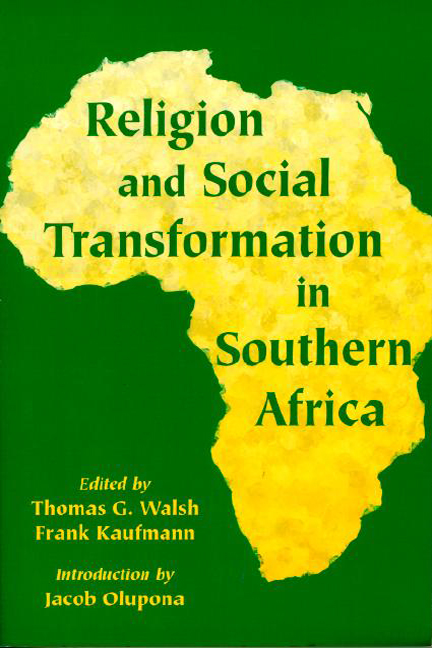 Religion and Social Transformation in Southern Africa