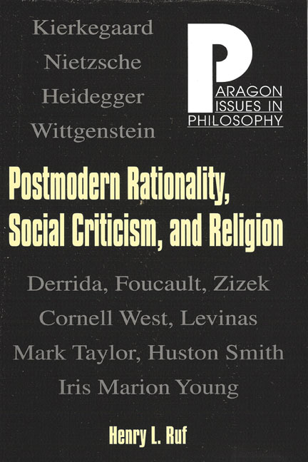 Postmodern Rationality, Social Criticism, and Religion